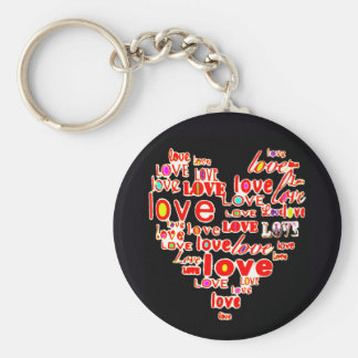 Rainbow Heart Love Engagement Marriage Wedding Keychain