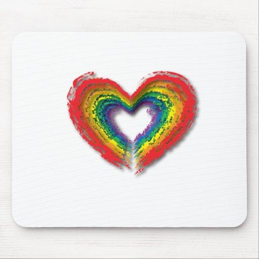 Rainbow Heart. Mouse Pad