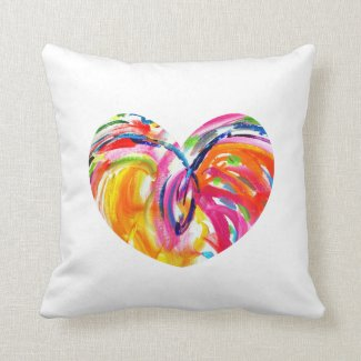 Rainbow Heart of Joy Pillow