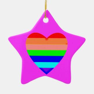 Rainbow Heart - Ornament