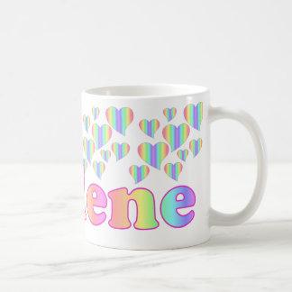 Rainbow Heart Personalized Carlene 11  Mug-reques Coffee Mug