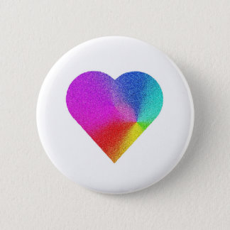 Rainbow Heart Pinback Button