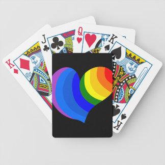 Rainbow Heart Bicycle Card Deck