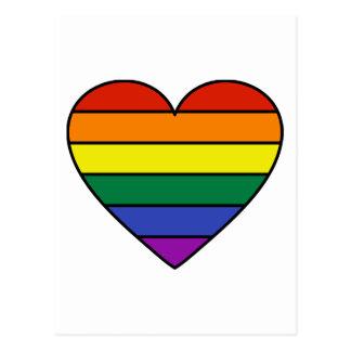 Rainbow Heart Postcard