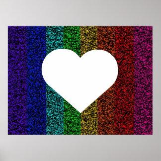 Rainbow Heart Posters