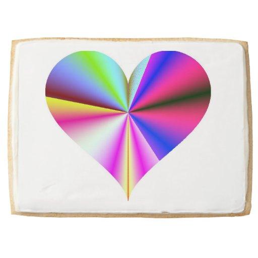 Rainbow Heart Premium Jumbo Shortbread Cookie Jumbo Cookie