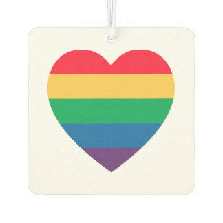 Rainbow Heart Pride Car Air Freshener