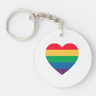 Rainbow Heart Pride Keychain