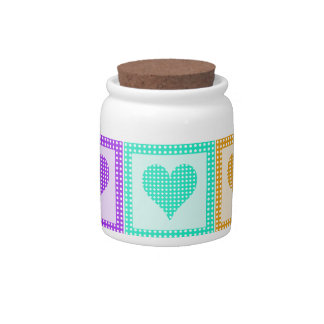 Rainbow Heart Quilt Pattern Candy Dish