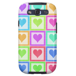 Rainbow Heart Quilt Pattern Samsung Galaxy S3 Cover
