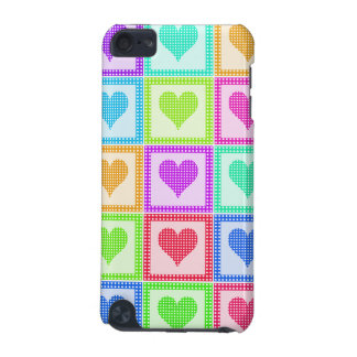 Rainbow Heart Quilt Pattern iPod Touch (5th Generation) Cases