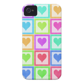Rainbow Heart Quilt Pattern iPhone 4 Covers