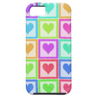 Rainbow Heart Quilt Pattern iPhone SE/5/5s Case
