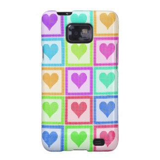 Rainbow Heart Quilt Pattern Samsung Galaxy Cover