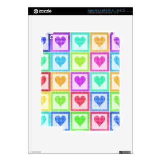 Rainbow Heart Quilt Pattern Decal For iPad 3