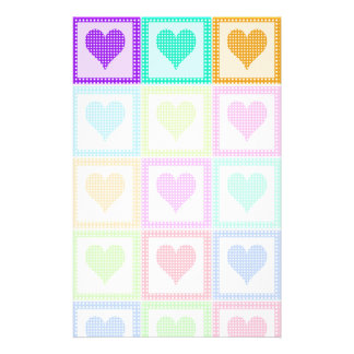 Rainbow Heart Quilt Pattern Stationery