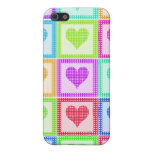 Rainbow Heart Quilt Pern iPhone 5 Covers