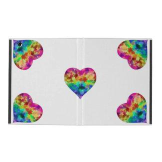 Rainbow Heart reflections iPad cover