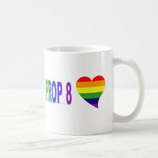 Rainbow heart/repeal prop 8 mugs