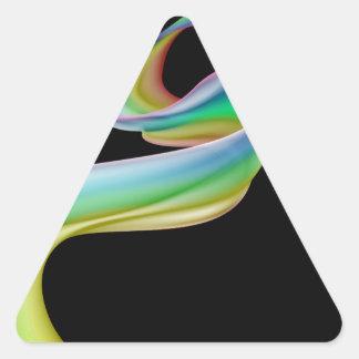 Rainbow heart ribbon background stickers