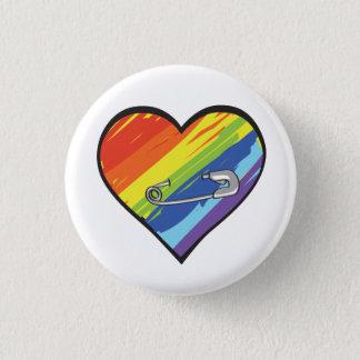 rainbow heart safety pin button