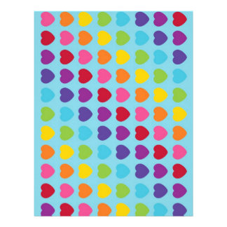 Rainbow Heart Scrapbook Paper Patterned Paper