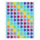 Rainbow Heart Scrapbook Paper Patterned Paper Letterhead