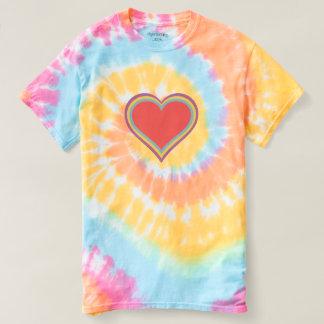 Rainbow Heart - Spiral Tie-Dye T-Shirt