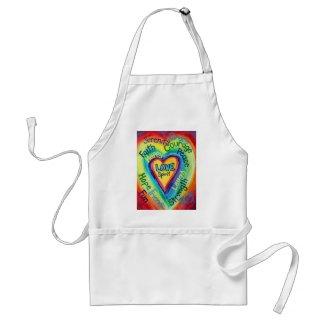 Rainbow Heart Spirit Words Apron