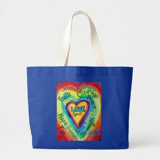 Rainbow Heart Spirit Words Bag