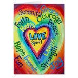 Rainbow Heart Spirit Words Card