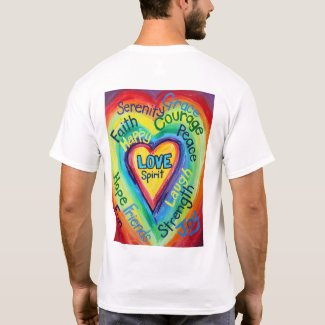 Rainbow Heart Spirit Words T-shirt