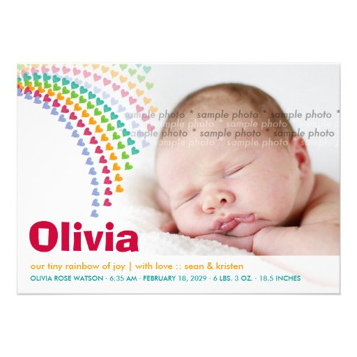 Personalized Birth announcement template Invitations – Sample Baby Announcement