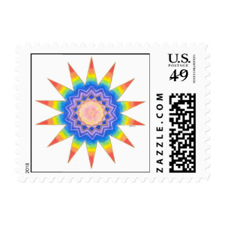 Rainbow Heart Star Postage Stamps