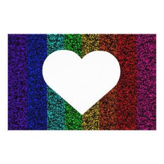 Rainbow Heart Stationery
