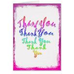 Rainbow Heart Thank You Greeting Card
