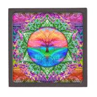 Rainbow Heart Tree Gift Box