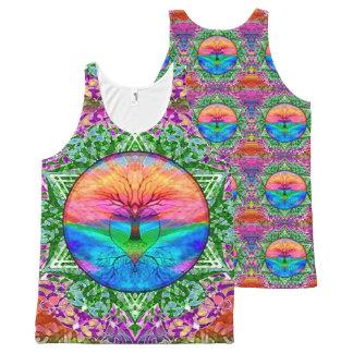 Rainbow Heart Tree of Life All-Over-Print Tank Top