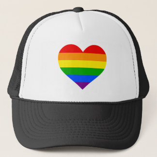 """RAINBOW HEART"" TRUCKER HAT"