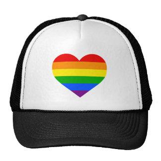 """""""RAINBOW HEART"""" TRUCKER HAT"""