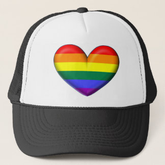 Rainbow Heart Trucker Hat