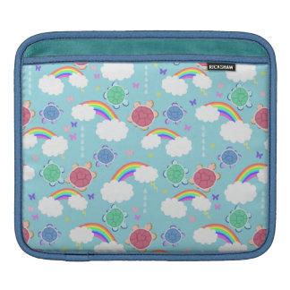 Rainbow Heart Turtle Pattern iPad Sleeves