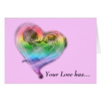 Rainbow Heart Valentine's Day Card (LGBTQ)