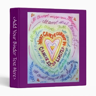Rainbow Heart What Cancer Cannot Do Binder