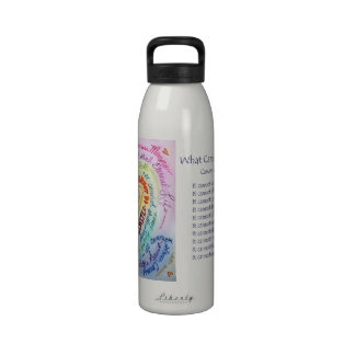 Rainbow Heart What Cancer Cannot Do Water Bottle