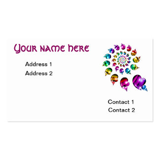 Rainbow Heart Wheel on White Business Card