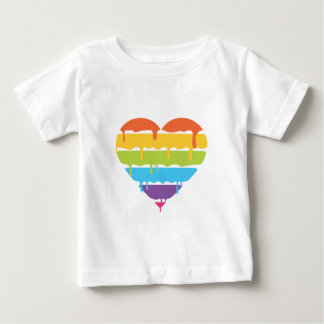 Rainbow heart with dripping paint baby T-Shirt
