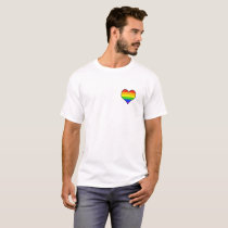 Rainbow Heartbeat (up to 6x!) T-Shirt