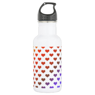 Rainbow hearts 18oz water bottle