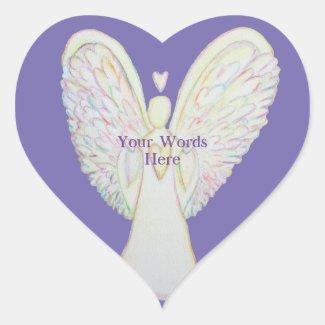 Rainbow Hearts Angel Art Custom Decal Stickers